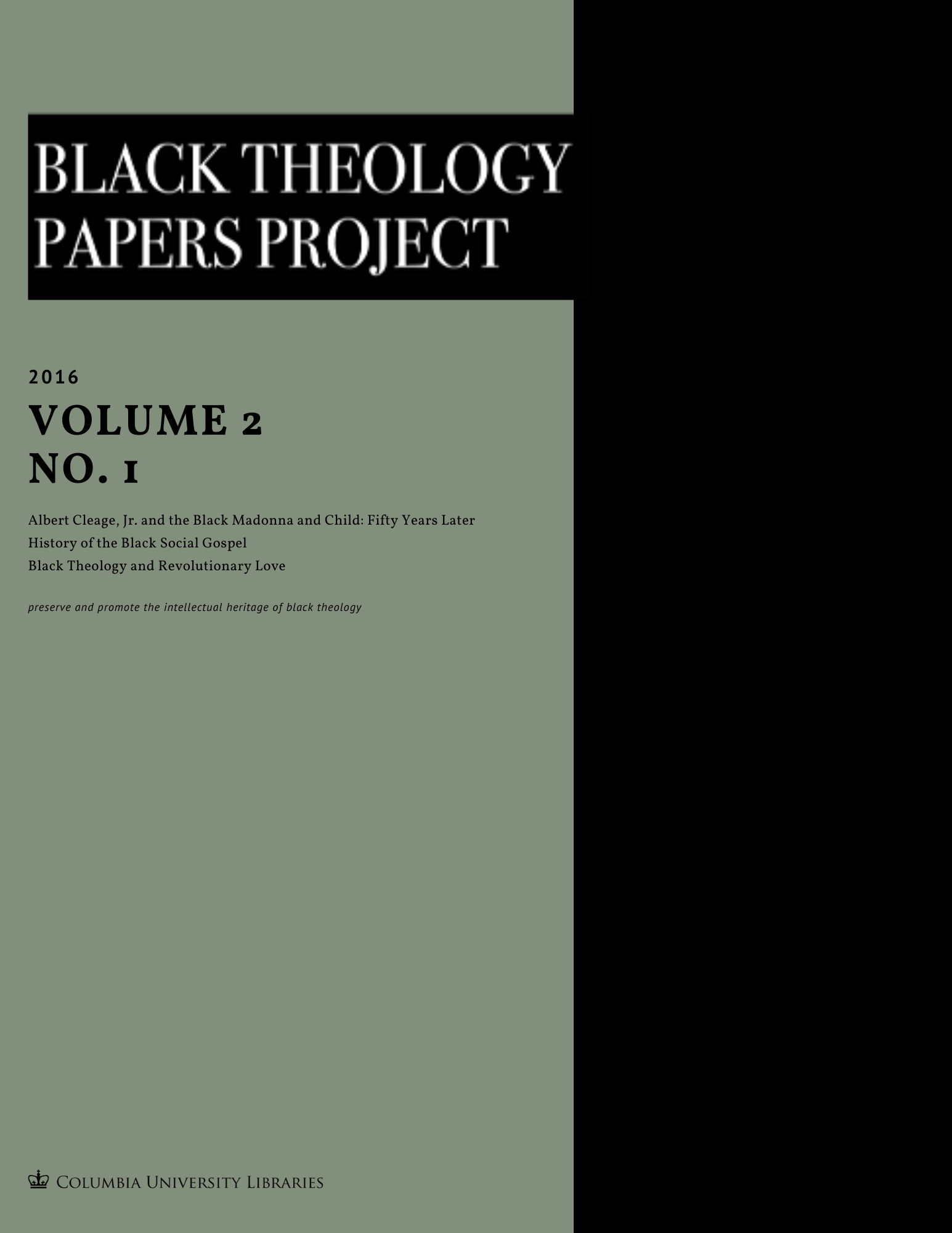 Black Theology Papers Vol. 2