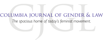 Columbia Journal of Gender and Law Logo: The spacious home of today's feminist movement